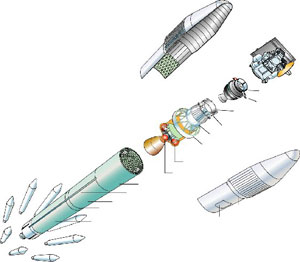 Deep Impact Launch Vehicle Illustration