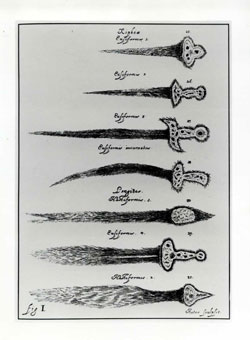 Types of cometary forms, illustrations from Johannes Hevelius' <i>Cometographia</i> (Danzig, 1668) (Scan of original and caption from Don Yeomans' Comets: A Chronological History of Observation, Science, Myth and Folklore. Used with permission.)