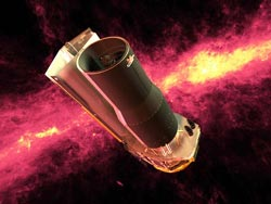 Artist's concept of Spitzer Space Telescope.